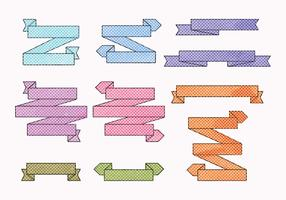 Vektor gepunktete Ribbon-Set