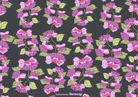 Vektor Färgglada Sweet Peas Flower Seamless Pattern