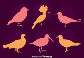 fågel silhuett samling vektor