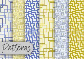 Olive und blaue Linie Muster Set vektor