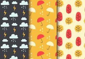 Gratis Seamless Rainy Weather Patterns vektor