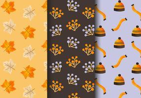 Kostenlose nahtlose Herbstmuster