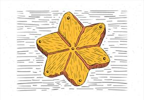 Freie Hand gezeichnete Herbst-Kuchen-Illustration