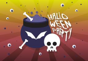 Freie flache Halloween-Vektor-Illustration