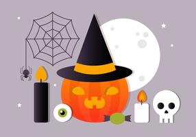 Kostenlose flache Halloween Vector Elements Collection