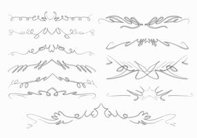 Naturliga Squiggles Frame Brush Hand Drawn Collection Vector