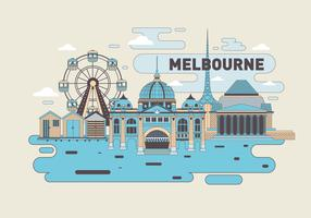 Melbourne Wahrzeichen Vektor