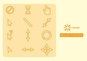 Kostenlose Maus über Icon-Set vektor