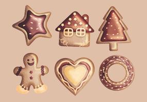 Vector Ginger Bröd Cookies