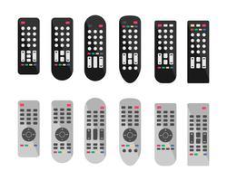 Fernbedienung oder TV-Remote-Icons