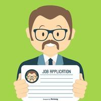 Söt jobbssökning / applikationsillustration