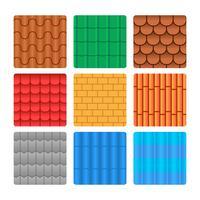 Kostenlose Dachziegel-Muster-Sammlung vektor