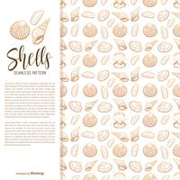 Handgezeichnete Muscheln Vektor nahtlose Muster
