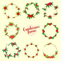 Cranberries-Rahmen-Vektor