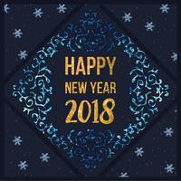 Vektor-guten Rutsch ins Neue Jahr-Karte