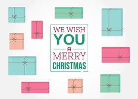 Kostenlose Weihnachtsgeschenke Hintergrund vektor
