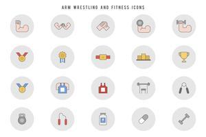 Freie Armdrücken und Fitness-Vektoren