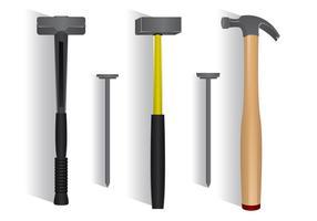 Vorschlaghammer-Vektor-Set vektor
