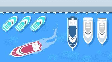 Trawler im Hafen kostenlose Vector