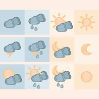 Vektor Wetter Icons
