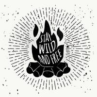 Free Hand Drawn Bonfire Vector Bakgrund