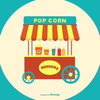 Hot Dog och Pop Corn Stand vektor