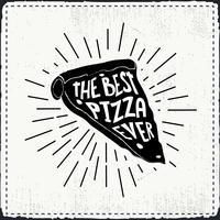 Freihand gezeichneter Pizza-Vektor-Hintergrund vektor