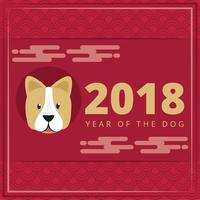Vektor-Jahr der Hundeabbildung vektor