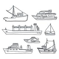 Olika slags båtar vektor