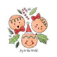 Glädje till världen Gingerbread Vector