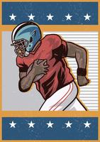 College Football Spieler vektor