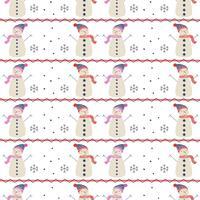 Schneemann-Vektor-Muster vektor