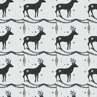 Hjort jul vektor mönster