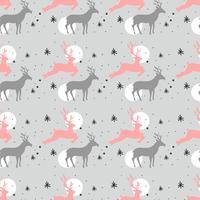 Weihnachten Deer Muster vektor