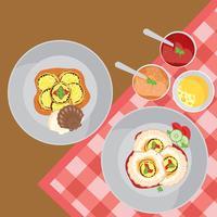Kammmuscheln-Muschel-Küche-freier Vektor