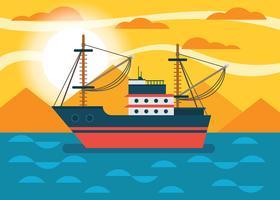 Trawler-Vektor-Illustration