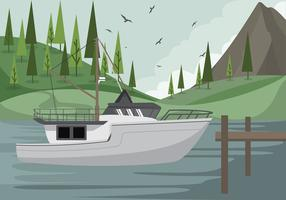 trawler ship fri vektor