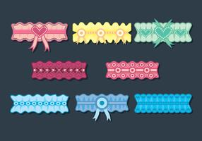 garter vektor set