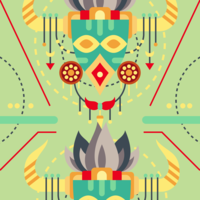 Maske der Schamanen-Illustration