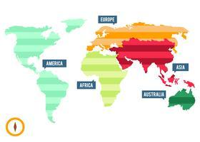 Gratis unika globala kartor vektorer