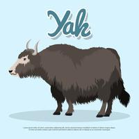 Yak-Vektor-Illustration vektor
