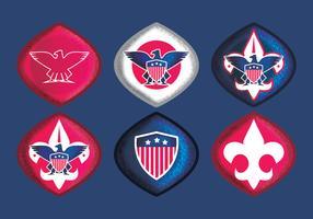 Vektor Eagle Scout Abzeichen