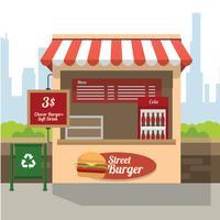 Straßen-Burger-Konzessions-Stand-freier Vektor