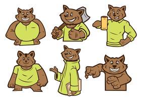 tvättbjörn maskot vektor