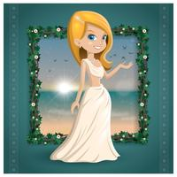 Freier schöner Aphrodite-Vektor vektor