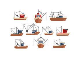 Free Trawler Flat Icon Vector