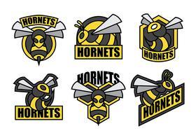 Hornissen-Vektor-Icons