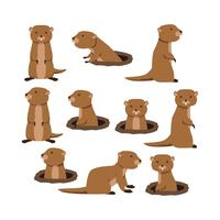 Gratis Flat Gopher Collection Vector