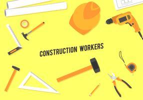 Werkzeuge von Bauarbeitern geben Vektor frei