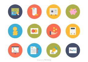 Flache Finanzen Vektor Icon Set